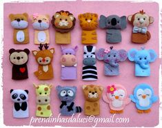 Home made finger puppets.  Cute ideas to follow.