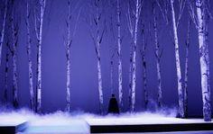 """Scenografia do sceny pojedynku w operze """"Eugeniusz Oniegin"""" w Teatrze Wielkim w Łodzi Curtains, Shower, Prints, Poster, Rain Shower Heads, Blinds, Showers, Draping, Picture Window Treatments"""