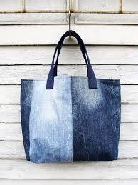 Resultado de imagen para recycled denim tote bag