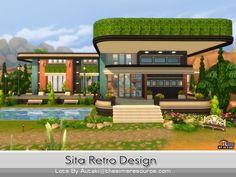 Sita Retro Design by autaki at TSR via Sims 4 Updates