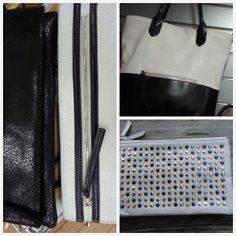 Zwart en witte tassen en clutches.....prachtig!