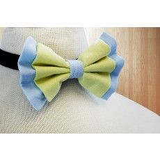 Pastel Sky Blue & Green Butterfly Bow - Accessories for boys   http://www.brownbows.com/accessories