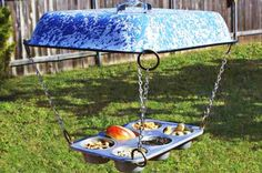 Muffin Tin DIY Bird Feeder. #birding birdsandblooms.com