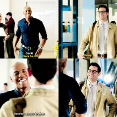 """""""Good to see you brother"""" - Clark and James #Supergirl"""