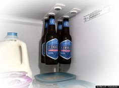 Bottleloft fridge! Looks like the best way ever to organize beer, I must have this.