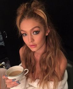 The hairdresser Bryce Scarlett posted this picture of Gigi on Instagram.