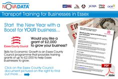 Skills for Economic Growth is an Essex County Council programme that provides training   grants of up to £2,000 to help Essex businesses to grow.    What is on offer?    Essex County Council contributes 70% of the training cost (up to £2,000) and you just