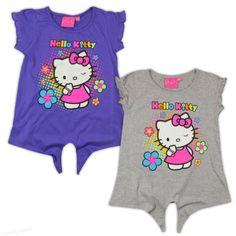 Cu Hello Kitty, toata lumea este mai vesela!  Tricou fetite 2-9 ani cu model vesel, colorat Pret: 34.00 lei http://hainute-fetite.ro/produs/tricou-hello-kittys-flowers/