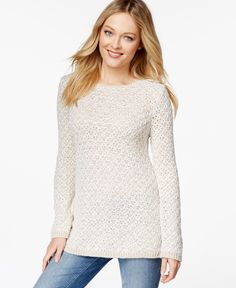 Charter Club Textured Tunic Sweater, Only at Macy's