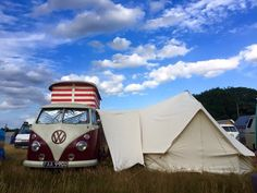 BeetleBus looking majestic with their very glam camper van awning