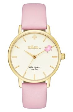 kate spade new york metro round leather strap watch, 34mm available at #Nordstrom