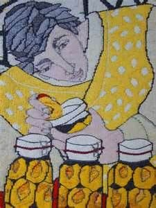 Amanda Gizzi, Scottish Tapestry Weaver.  Has exhibited as part of the STAR group