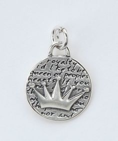 Sterling Silver Small Crown Pendant