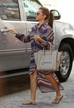 Kourtney Kardashian with Celine Dune Mini Luggage Bag