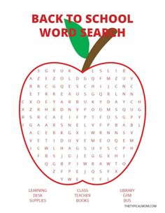 This back to school word search is fun for kids in the classroom or at home too! Easy enough for younger grades yet still fun for older kids as well!