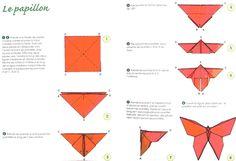 Un Papillon En Origami En étapes à Télécharger A Faire Origami