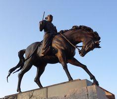 This monument is Bushi&horse at Imabari Japan.