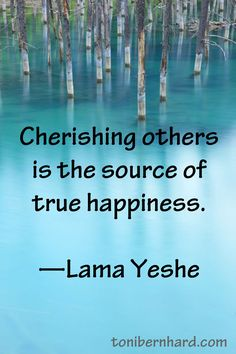 """Cherishing others is the source of true happiness."" —The kind and gentle Lama Yeshe Happiness Is A Choice, True Happiness, Meaningful Quotes, Inspirational Quotes, Buddha, Spiritual Wisdom, Beautiful Words, Life Lessons, Wise Words"