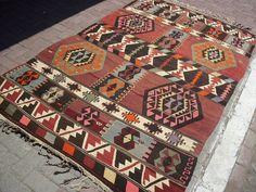 Turkish Anatolian Kilim Rug From Sardes Region by TARZANPILLOW