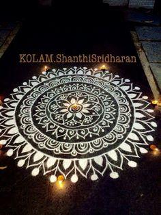Indian & filled with & Free Hand Rangoli Design, Small Rangoli Design, Colorful Rangoli Designs, Rangoli Designs Diwali, Beautiful Rangoli Designs, Kolam Designs, Mandala Pattern, Mandala Art, Alpona Design