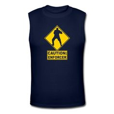 CAUTION: Hockey Enforcer T-Shirt | Spreadshirt | ID: 8295503