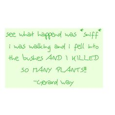 Funny Gerard Way Quote ❤ liked on Polyvore