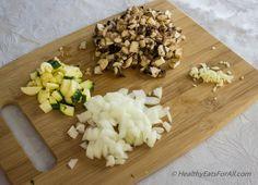 Vegan Zucchini Spaghetti with Mushroom Tofu Sauce-10