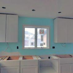 Kitchen cabinet runs and uppers installed #kitchenisland #kitchendesign  #kitchencabinets