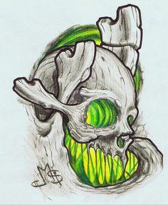 Organic Biomechanical Skull by Soederberg on @DeviantArt