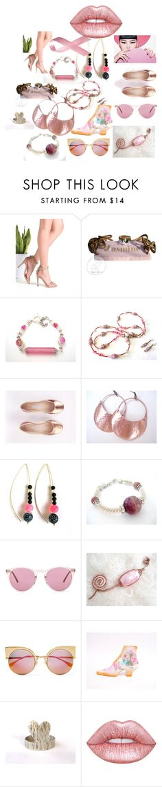 """""""Woman in Pink"""" by anna-recycle ❤ liked on Polyvore featuring Oliver Peoples, Fendi, Lime Crime, modern and vintage"""