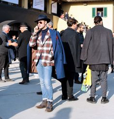 Street Style at Pitti Uomo in Florence - Photo by Lee Oliveira #pittiuomo87 #menswear