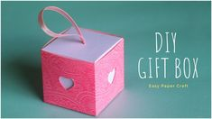 How To make gift box with craft paper or cardstock? This DIY Gift Box tutorial will show you an easy DIY Craft to make pull out gift box at home. Paper Gift Box, Diy Gift Box, Easy Diy Gifts, Paper Boxes, Paper Gifts, Making Gift Boxes, Small Gift Boxes, Making Ideas, Craft Box