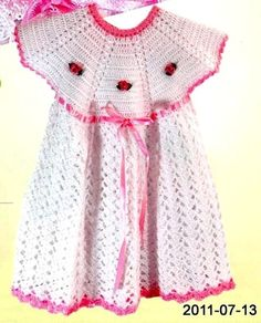 Little Princess Summer Toddler Dress with Roses free crochet pattern