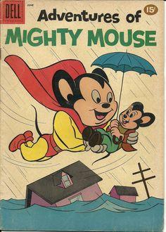 mighty mouse vintage comic books - my hero! Online Comic Books, Old Comic Books, Best Comic Books, Vintage Comic Books, Comic Book Covers, My Books, Comics Und Cartoons, Children's Comics, Animated Cartoons