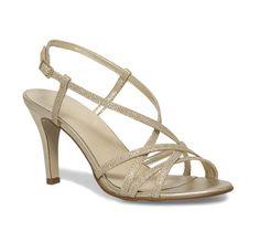Sandale talon cuir dorée