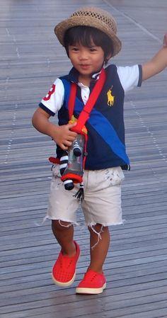 shirt: Polo Sport / shorts: Crew cuts / shoes: Native