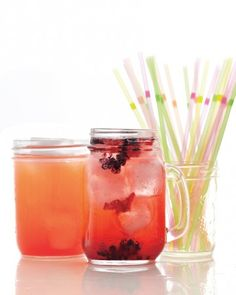 """Strawberry-Mint Lemonade - A refreshingly sweet and tangy drink to sip on during a hot summer day, when combined with strawberries, simple lemonade is upgraded to a sophisticated and elegant beverage for any party or celebration. Add a shot of vodka or gin to make an """"adult"""" version."""
