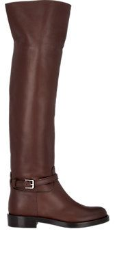Leather Riding Knee Boots