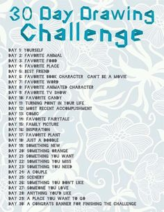 30 Day Drawing Challenge! Perfect for doing over the summer!