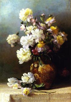 Peonies in an Oriental Vase  Henrietta Augusta Granbery