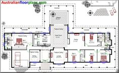 LOVE This floor plan with a few changes acreage colionial style