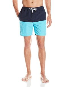 Maui  Sons Mens Reckless Volley Swim Trunk Blue Atoll Large -- Find out more about the great product at the image link.