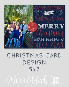 Christmas Card Custom Christmas Card by ScribbledPaperie on Etsy, $4.00