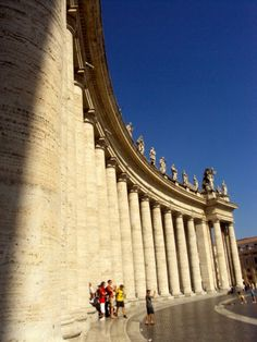 Bernini's colonnade in St. Peter's Square, Vatican City