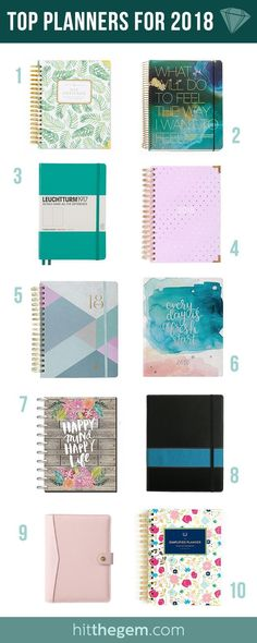 Top 2018 Planner Recommendations - Trying to decide on which 2018 planner is for you? Here are the top 10 planners re - 2018 Planner, Life Planner, Happy Planner, Diy Organisation, Planner Organization, Organizing Life, Organizing Ideas, Business Planner, Business Tips