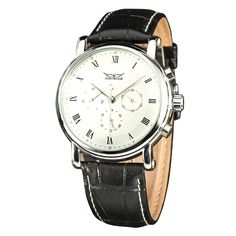 13.95$  Watch here - http://aligky.shopchina.info/go.php?t=32790417016 - 2016 Hot New JARGAR Fashion Men's Mechanical Watch Owl Calendar Wristwatches with Leather Band 13.95$ #aliexpress