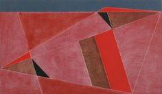 Triangulated Red Landscape, 2002 by George Dannatt