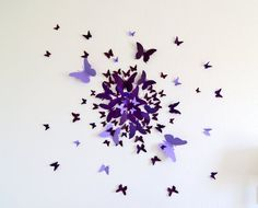 Free US Shipping 70 3D Butterfly Wall Art Circle Burst by LeeShay, $50.00