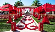 i like the drapery around the guest seating here! Wedding Entrance, Wedding Mandap, Wedding Table, Wedding Scene, Red Wedding, Wedding Events, India Wedding, Weddings, Wedding Blog