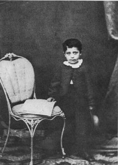 Gustav Mahler age six, in 1866. Mahler was music director of the NY Philharmonic from 1909-1911.